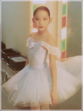 福田萌子 幼少時のバレエ姿