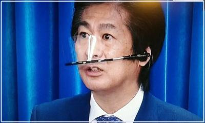 田村憲久厚労大臣 フェイスシールド